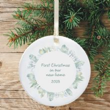 First Christmas in a New Home Keepsake Decoration - Circle Street Design